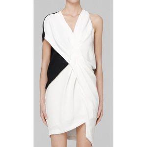 Helmut Lang 'Sugar' Black & White Crepe Dress - 0